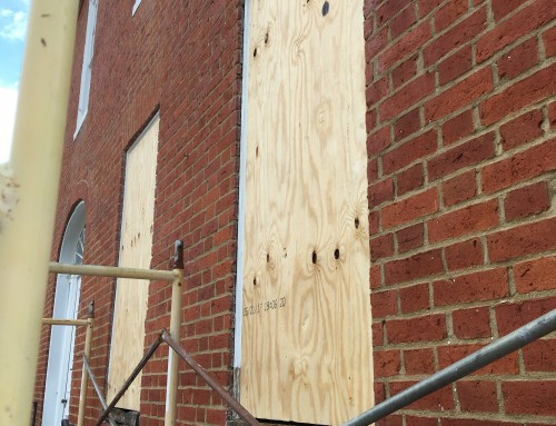 Orange Johnson House Window Project Underway